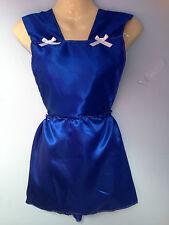 royal satin skirt romper bib tutu french maid cosplay sissy adult baby fit 28-40
