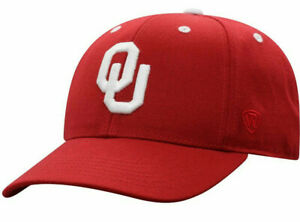 OKLAHOMA SOONERS CRIMSON NCAA FITTED SIZED TOP OF THE WORLD DYNASTY CAP HAT NWT!