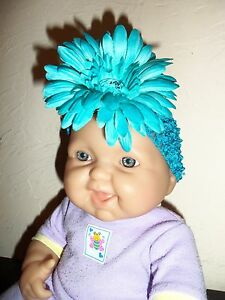 Wholesale Baby Or Girls Gerber Daisy Teal Turqouise Flower