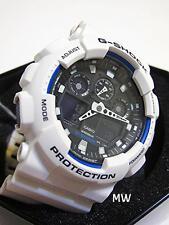 Casio G-Shock Sports Mens X-Large World Time Watch White Resin GA100B GA-100B-7A