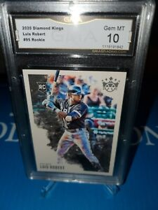GMA-10-MINT-LUIS-ROBERT-RC-2020-DIAMOND-KINGS-ROOKIE-CHICAGO-WHITE-SOX