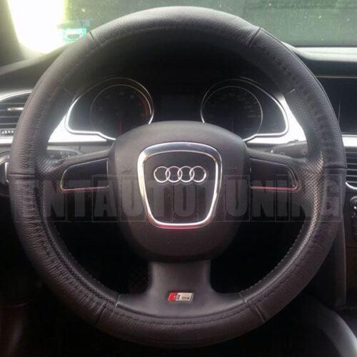 Leather Steering Wheel Cover in Black Beige Grey Alfa Romeo 159 164 166 Brera GT