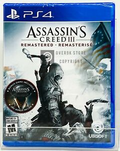 Assassin-039-s-Creed-III-3-Remastered-PS4-Brand-New-Factory-Sealed