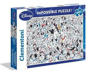 CLEMENTONI-DISNEY-JIGSAW-PUZZLE-101-DALMATIONS-IMPOSSIBLE-PUZZLE-1000-PC-39358