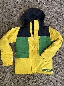 Burton-Boys-Chittagong-Snowboard-Ski-Jacket-Large-14-16-Yellow-Black-FAST-Ship