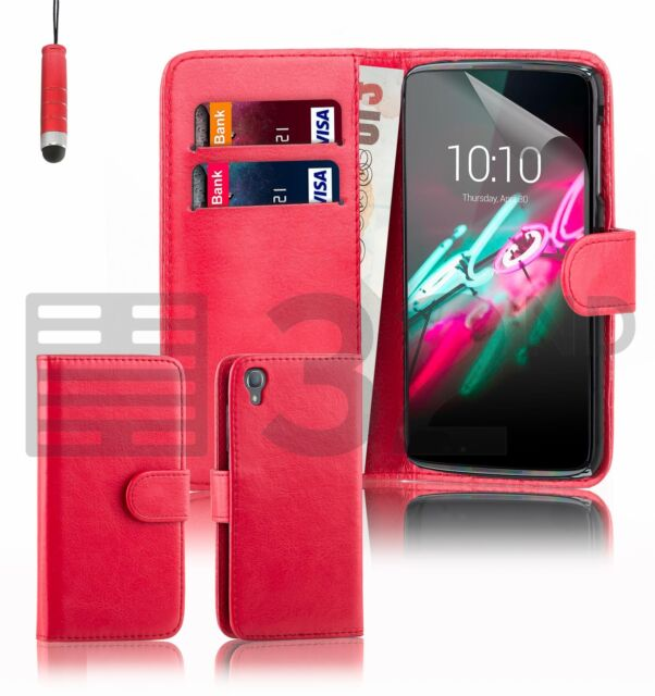 finest selection 09138 3b418 32nd Book Wallet PU Leather Case Cover for Alcatel PHONES Screen Protector  Idol 4 (5.2