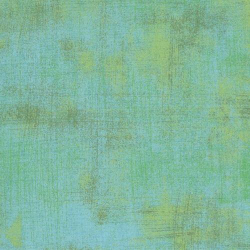 se vende por 1//4 Metro Verde Quilting fabric Moda Tela Grunge encantado