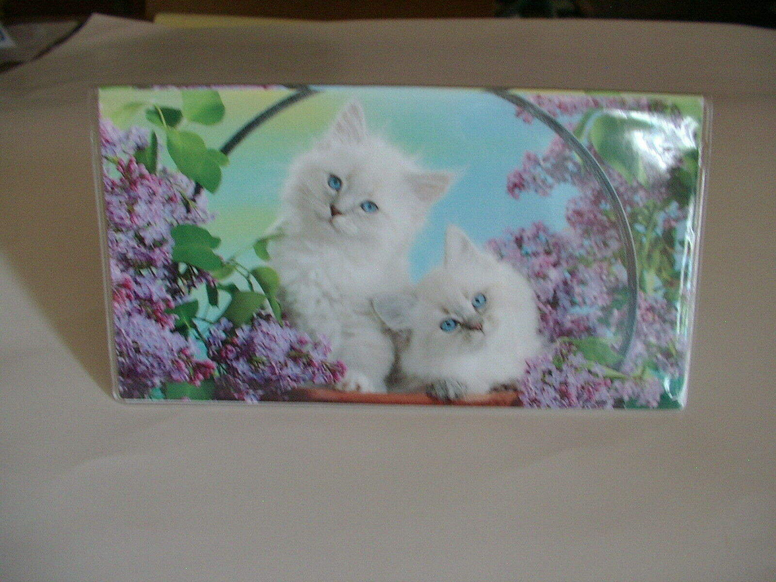 Adorable white kittens in the lilac batch Checkbook cover