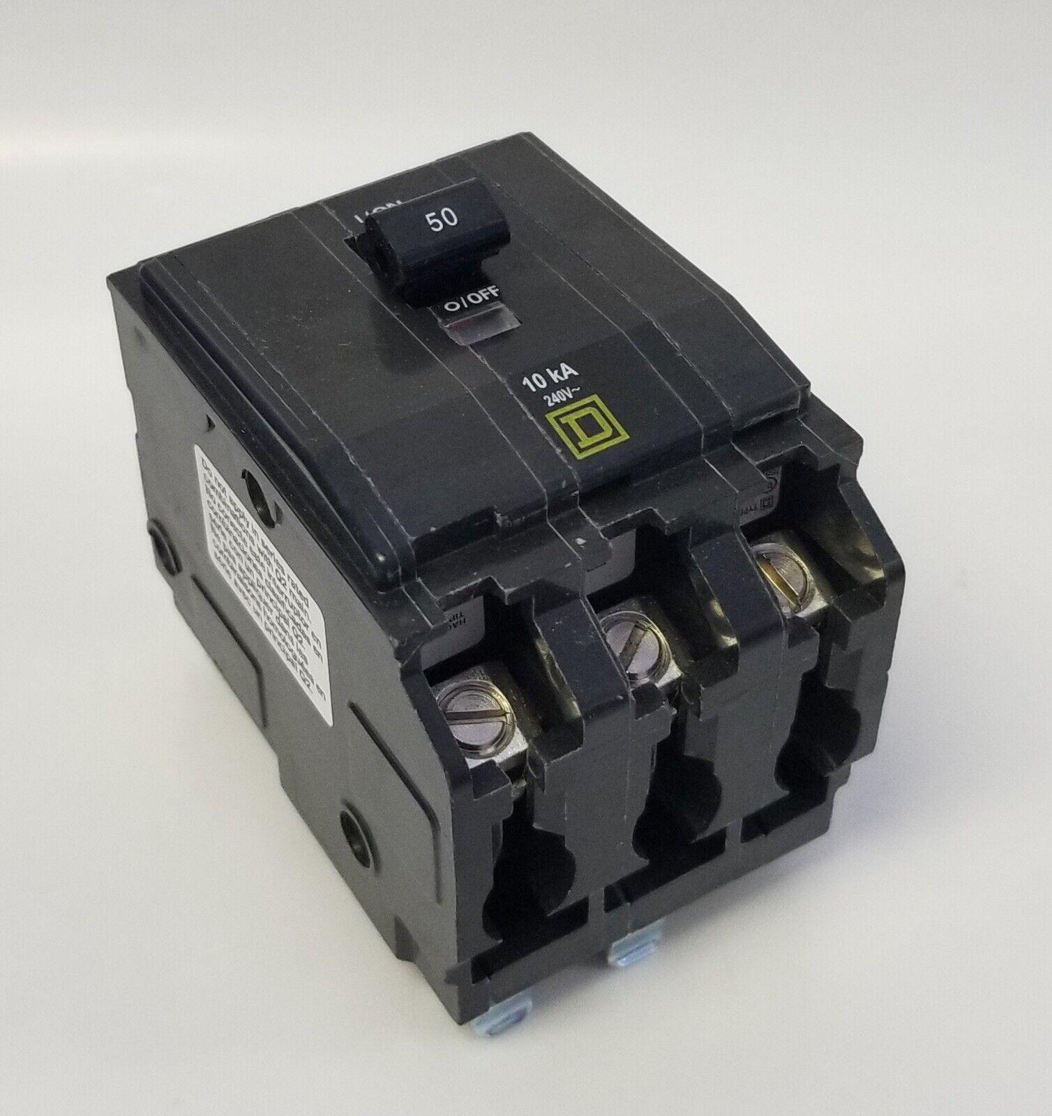 QO350 Square D 3pole 50amp 240V Plug-In Circuit Breaker NEW!!