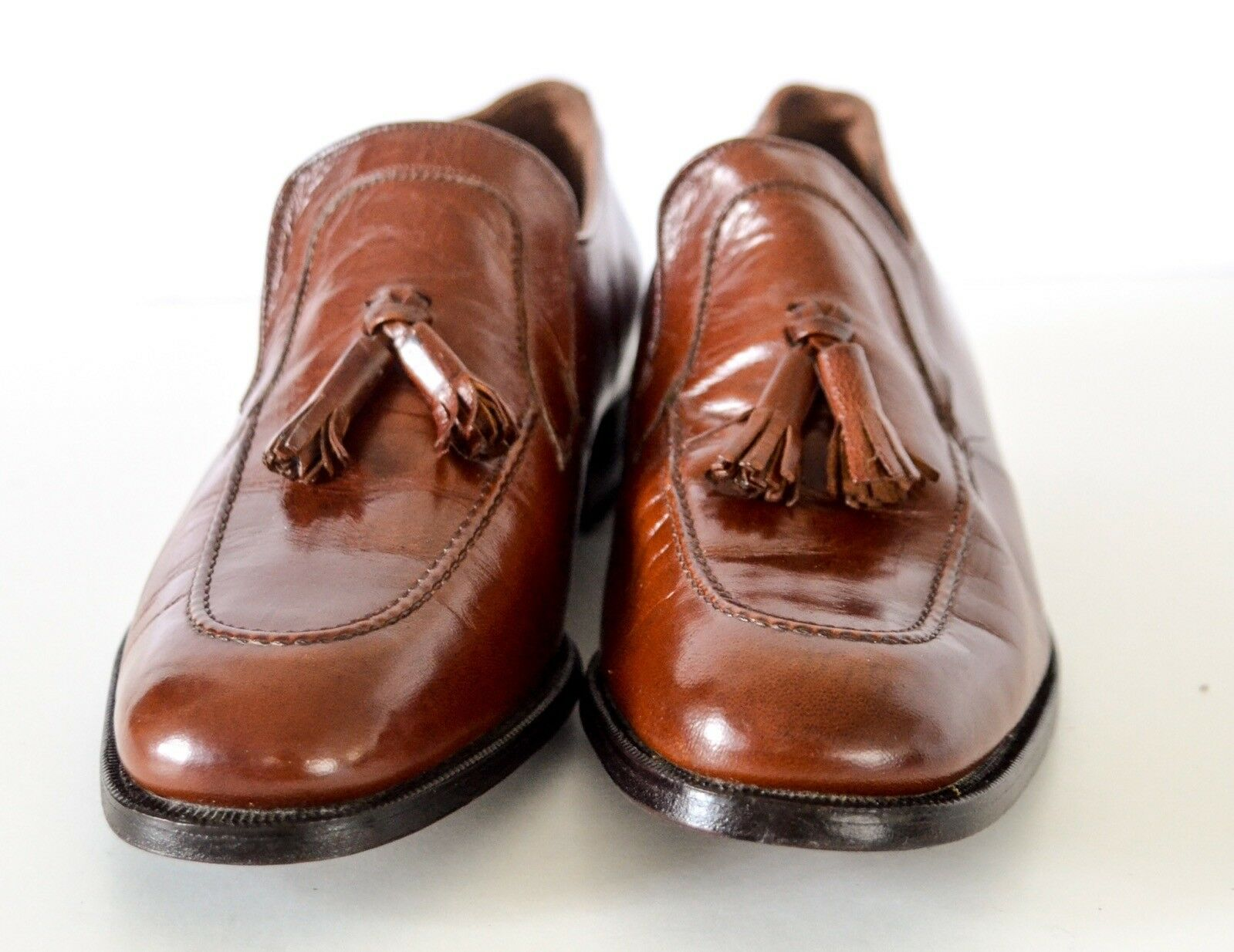 Vintage brown FLORSHEIM IMPERIAL Shoes Leather Tassel Loafers Shoes IMPERIAL Size 8D NOS 0bde48