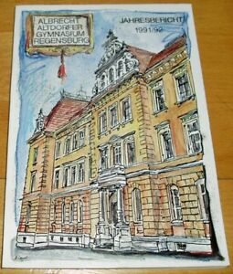 Regensburg-1991-1992-Jahresbericht-Albrecht-Altdorfer-Gymnasium-Geschenk-Abi