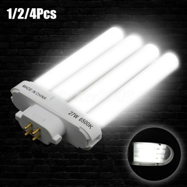27W FML27/65K 4 Pin Quad Tube Energy Saving Compact Fluorescent Light Bulb  New