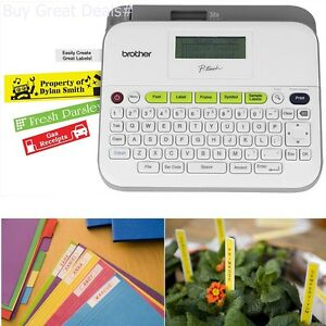One-Touch 2.3 Easy-to-Use Label Maker PTD210 Brother P-touch Gray//White