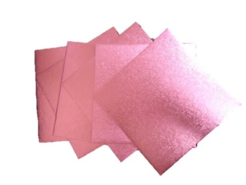 "Details about  10 x Professional 250mm 10"" Pink Square Cake Boards Bases 2.5mm Thick #3C1"