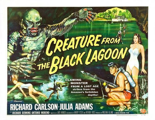 The Creature From The Black Lagoon Movie Poster A3 A2 Print