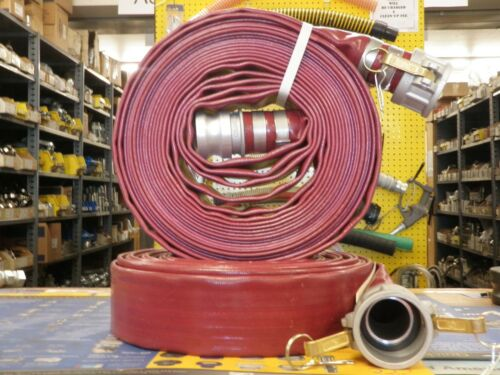 """2/"""" x 50/' RED PVC DISCHARGE HOSE ASSEMBLY W//Male /& Female Camlock Fittings"""