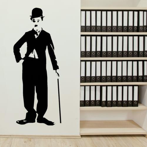 Charlie Chaplin CelebWall Sticker Decal Art Transfer Graphic Stencil Vinyl  BN42