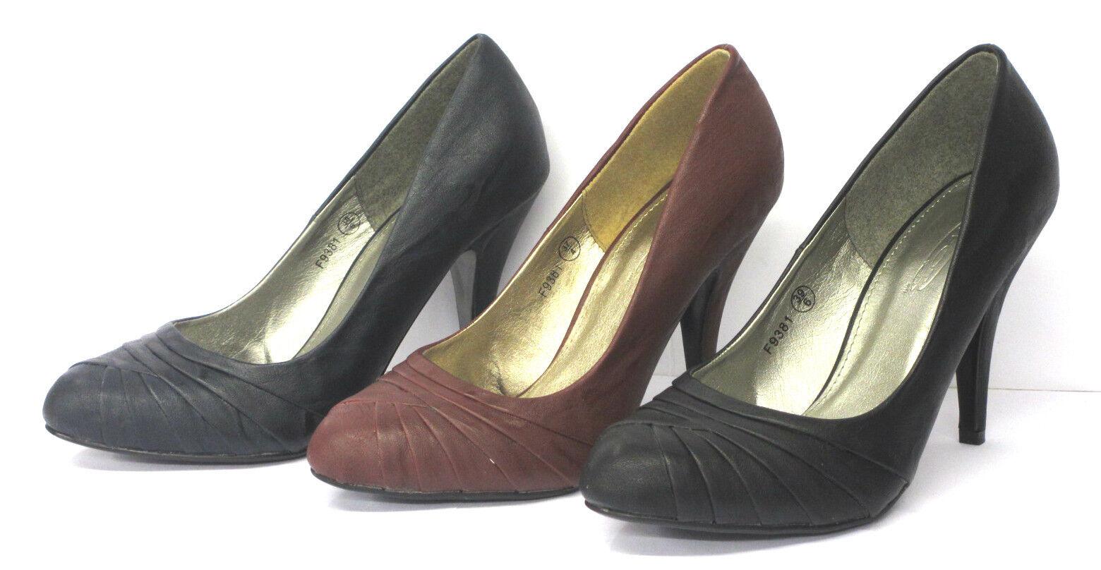 Spot On da donna scarpa décolleté tacco alto in Una gamma di colori f9381