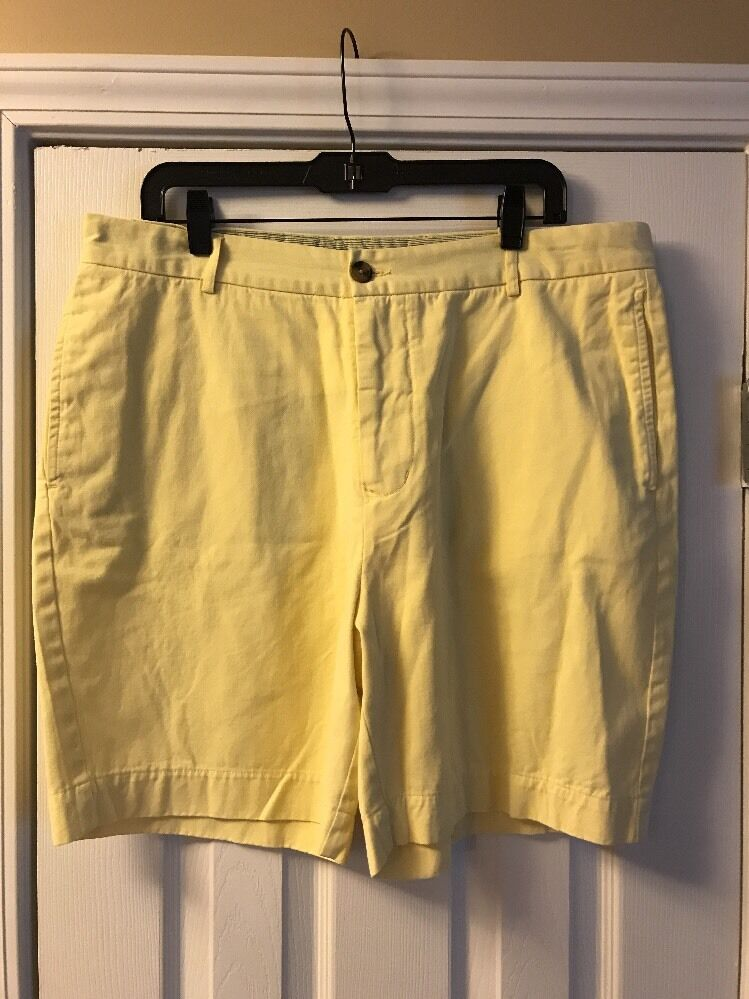 Tailorbyrd Men's Yellow Shorts Size 38