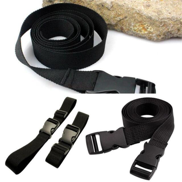 Black Small Travel Luggage Straps Short Adjustable Suitcase Belt Buckle Holder