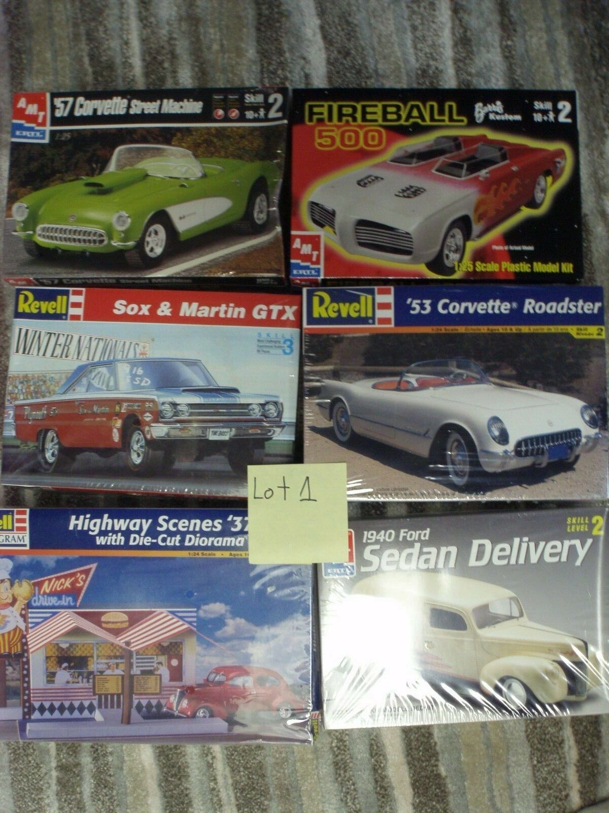 Lot of 6 Sealed Model Kits Lot 1