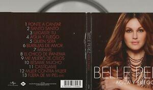 CD ALBUM  BELLE PEREZ - AGUA y FUEGO - AUTOGRAPHED  !! HANDTEKENING BELGIE