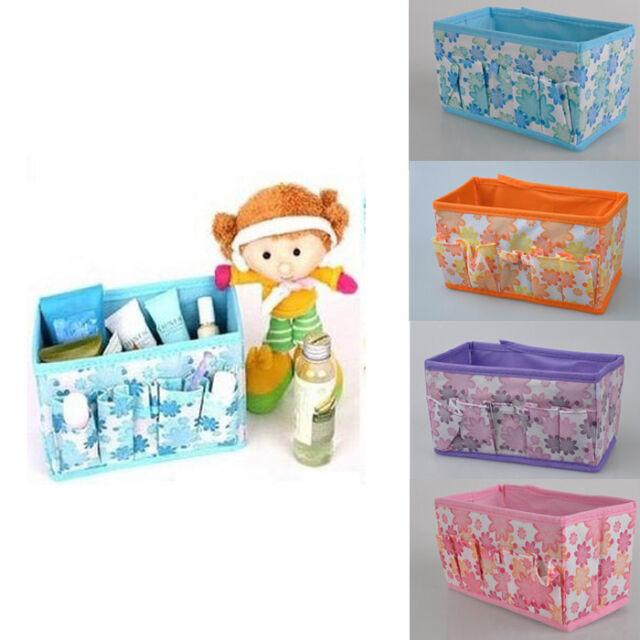 Beauty Flower Multifunction Folding Makeup Cosmetics Storage Box Organizer