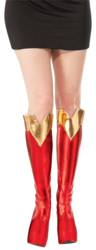 Women/'s DC Superheroes Supergirl Boot Tops Shoe Covers Costume Accessory