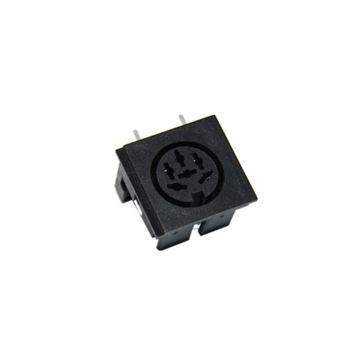 2x FC680806 Buchse DIN weiblich PIN 6 Ausg.-Sys 240° mit 90°-Winkel THT CLIFF