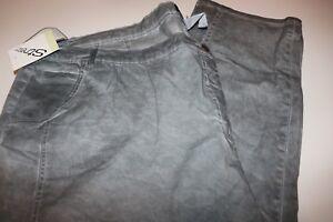 Damen jeans Hose gr 26  103 cm länge grau  verwaschene Baumwolle elastisch