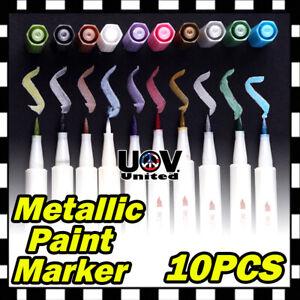 10-Colors-Lot-Assorted-Metallic-Paint-Markers-Pens-Sheen-Glitter-Calligraphy-Art