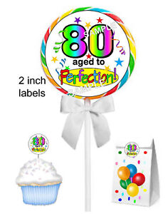 Image Is Loading 20 80th BIRTHDAY PARTY FAVORS STICKERS LABELS FOR