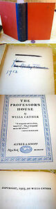 THE-PROFESSOR-039-S-HOUSE-1925-Willa-Cather-1st-Edition