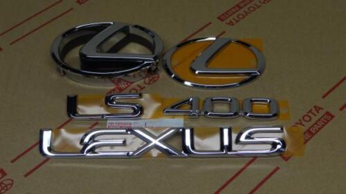 95-00 OEM NEW LEXUS LS400 CHROME COMPLETE EMBLEM KIT 1995 1996 1997 1998 1999 00