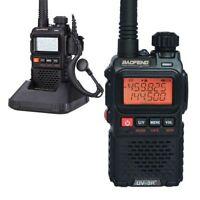 Baofeng UV-3R+ Plus VHF UHF 136-174/400-470MHz Walke FM Radio + Free Earpiece US