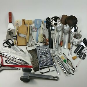 Kitchen Utensils Thermometers Scissors Spatula Measuring Plus More Vintage Lot