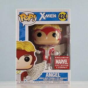 Funko POP! Marvel: X-Men - Angel #424 [Collector Corps Exclusive] with Protector