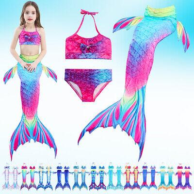 Costume Ragazze 3pc Coda Da Sirena Costumi Da Bagno Sirena Costume Da Bagno Costume Da Bagno Bikini-mostra Il Titolo Originale Alta Qualità