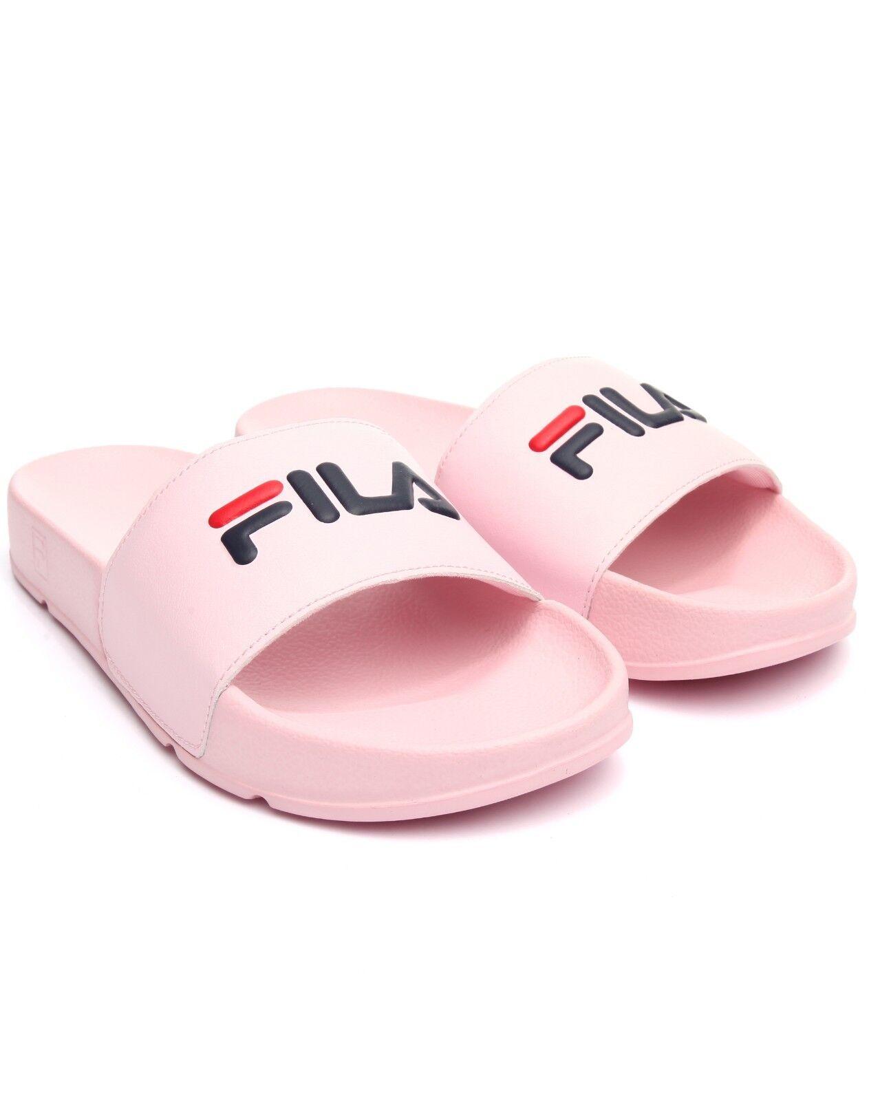FILA Women's Drifter Slide - 5VS00000-682 - Slide Pink/Navy/Red 8b09b3
