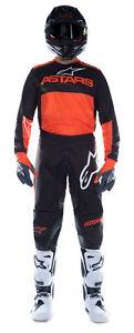NEW ALPINESTARS 2021 FLUID TRIPPLE RACE KIT BLACK ORANGE MX MOTOCROSS SUIT BMX