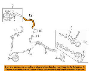 s l300 toyota oem 97 01 camry power steering reservoir tank hose 4434806160