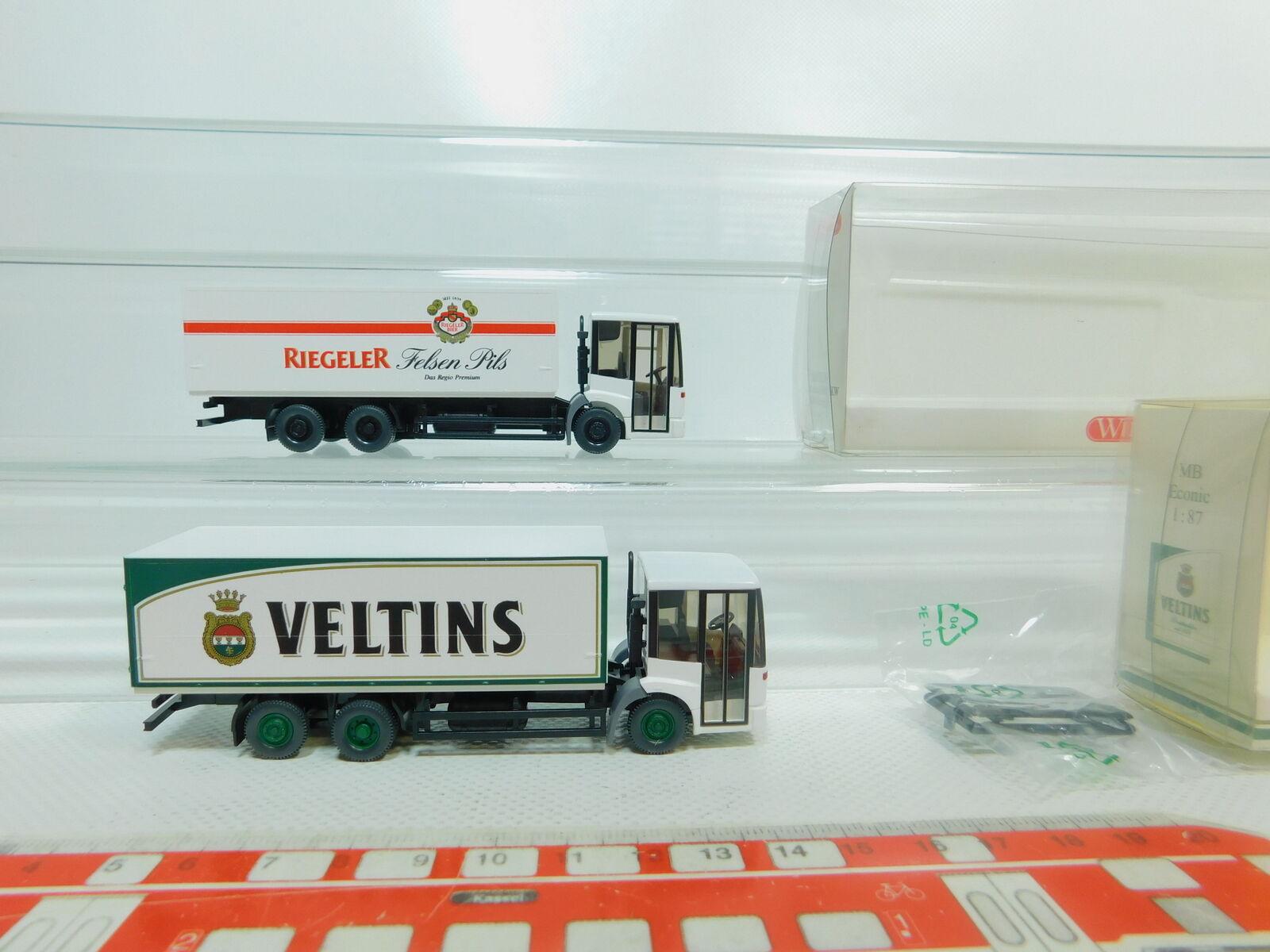 BO831-0,5x BO831-0,5x BO831-0,5x Wiking H0 1 87 Getränkekoffer LKW MB  561 + Veltins, sehr gut+OVP b89dee