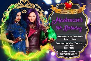 Image Is Loading Personalised Disney Descendants Birthday Party Invites Inc Envelopes