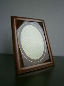 Photo-Frame-Antique-Art-Deco-Decoration-1930-Wood-And-Window-Painted-View-Oval
