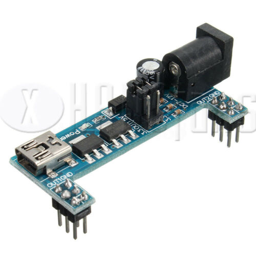 MB102 Power Supply Module 3.3V 5V+MB102 Breadboard Board 830 Jumper cable ATF
