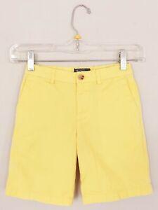 Polo-Ralph-Lauren-Boys-Chino-Shorts-6-Cotton-Yellow-Adjustable-Waist-Pockets