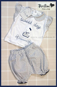Clothing, Shoes & Accessories Romantic Set Newborn 100% Cotone Short Made In Italy Birillini 4989 Diversified Latest Designs