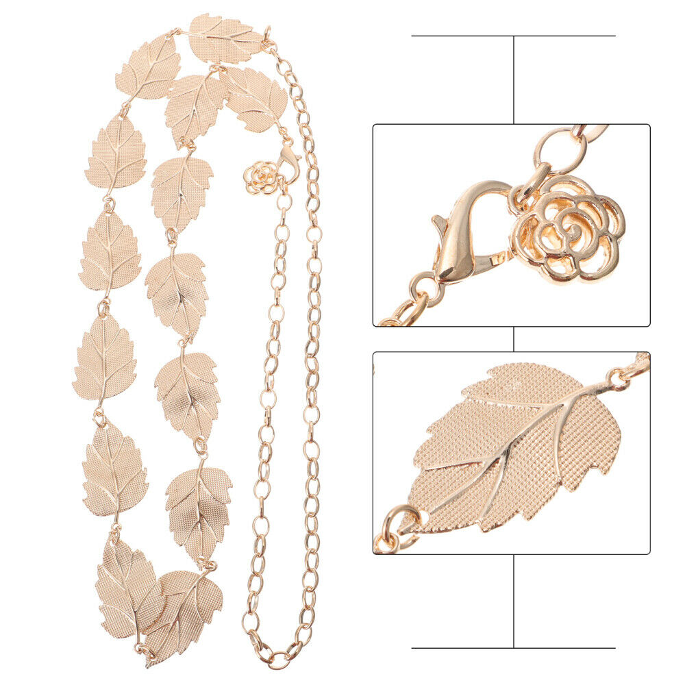1pc Beautiful Exquisite Leaf Shaped Waist Chain Women Body Accessory