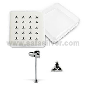 Nose Piercing Sole of the Feet Shape Silver Oxidized Nose Pin Nose Stud 20 Piece Wholesale lot