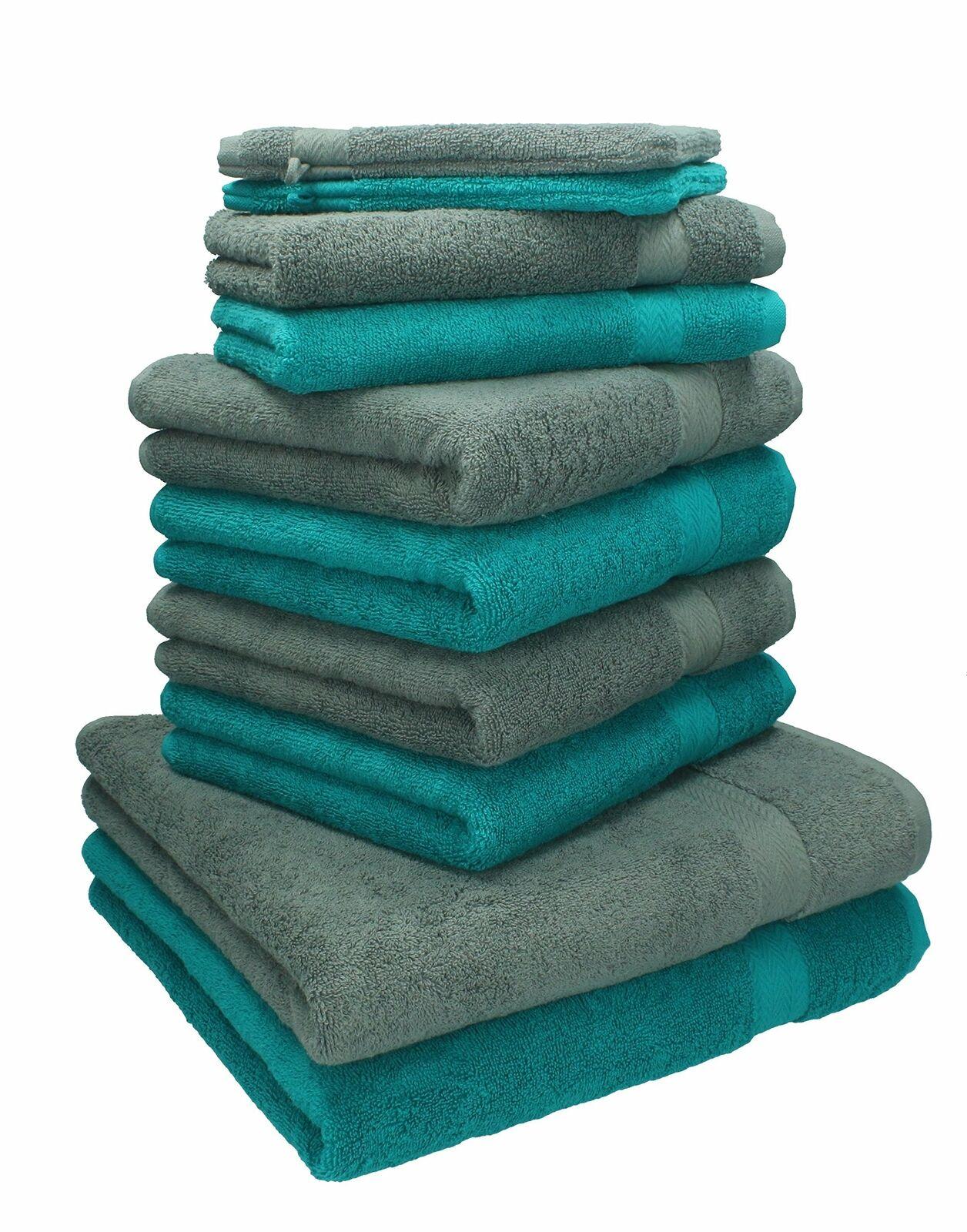 BETZ lot de 10 serviettes set  2 serviettes, draps de bain 4 toilette 2 d'invité